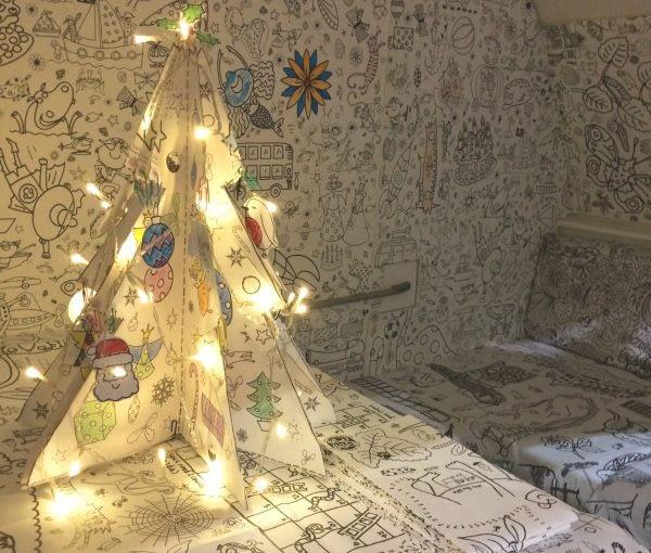 England - Bath Christmas Market Colour in Christmas tree