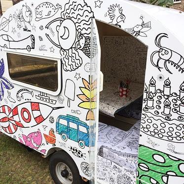 Colour-in Caravan exterior