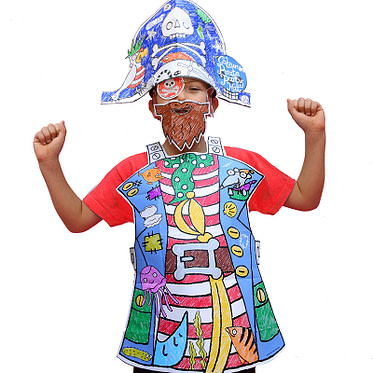 Eggnogg Colour-in Pirate Hat & Tabard