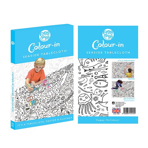 Carton - colour-in gianr poster/tablecloth - Seaside