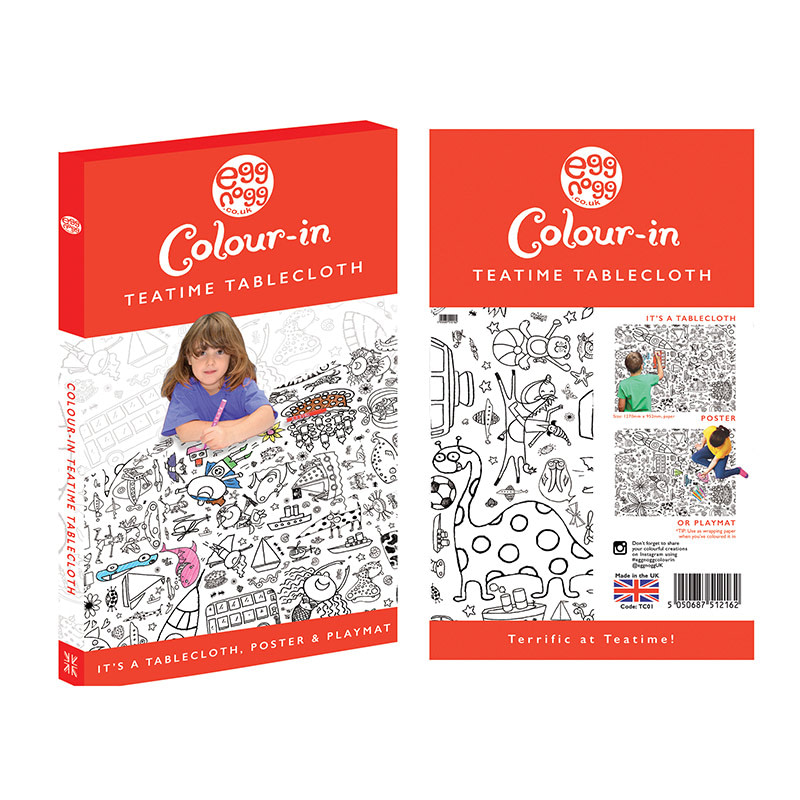 Glorious Gardens Eggnogg Colour in Tablecloth Poster Placemats Various Themes