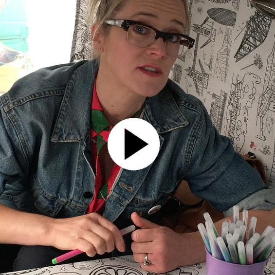 Colour-in Chit Chat Edith Bowman