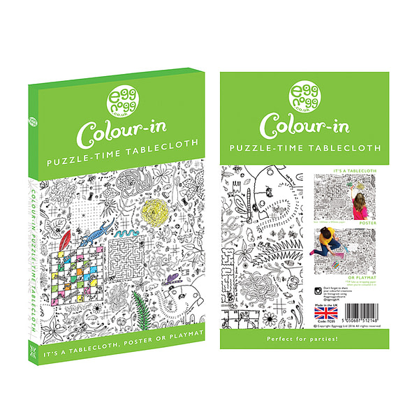 Carton - colour-in giant poster/tablecloth - Puzzletime